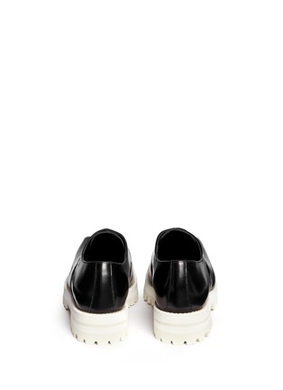 Back View - Click To Enlarge - Acne Studios - Quad Contrast' square toe leather Oxfords