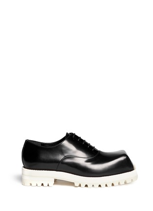Main View - Click To Enlarge - Acne Studios - Quad Contrast' square toe leather Oxfords