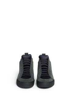 3.1 PHILLIP LIM'Morgan' velvet felt high top sneakers