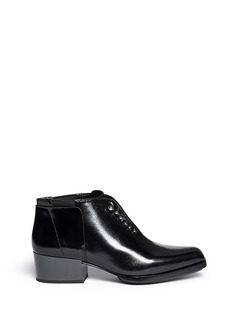 3.1 PHILLIP LIM 'Newton' metal pin leather Chelsea booties
