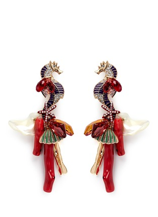 Main View - Click To Enlarge - Anabela Chan - 'Triton' Swarovski coral drop earrings