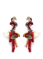 'Triton' Swarovski coral drop earrings