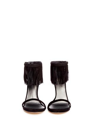 Figure View - Click To Enlarge - Stuart Weitzman - 'Love Fringe' suede sandals