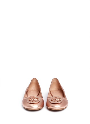 Figure View - Click To Enlarge - Tory Burch - 'Reva' metallic leather ballet flats