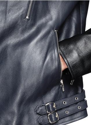 - McQ Alexander McQueen - Stitched panel biker jacket