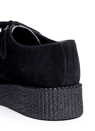 Detail View - Click To Enlarge - UNDERGROUND - Wulfrun leopard print suede creepers