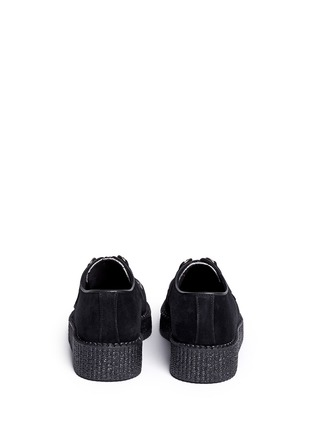 Back View - Click To Enlarge - UNDERGROUND - Wulfrun leopard print suede creepers