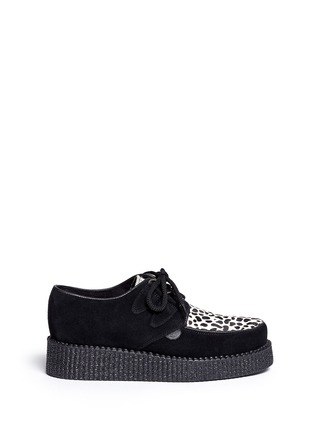 Main View - Click To Enlarge - UNDERGROUND - Wulfrun leopard print suede creepers