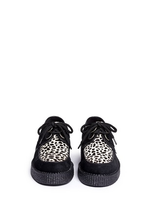 Figure View - Click To Enlarge - UNDERGROUND - Wulfrun leopard print suede creepers