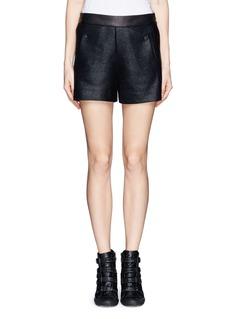 RAG & BONE'Farnsworth'  leather trim shorts