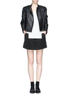 ALEXANDER WANG Quilted shoulder leather jacket