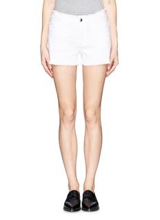 T BY ALEXANDER WANGBurlap frayed 5-pocket shorts