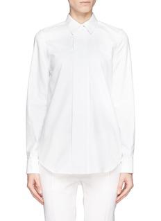 VICTORIA BECKHAMPiqué placket poplin shirt