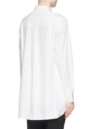 Back View - Click To Enlarge - Alexander Wang  - Paper thin wrap front tailored shirt