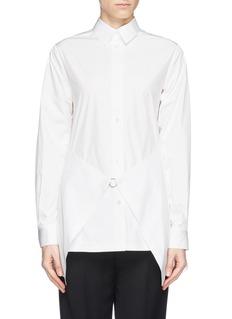 ALEXANDER WANG Paper thin wrap front tailored shirt