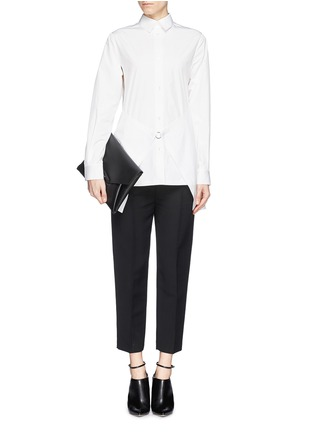 Figure View - Click To Enlarge - Alexander Wang  - Paper thin wrap front tailored shirt