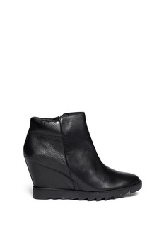 ASH 'Iron' leather wedge ankle boots