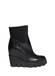 ASH 'Ruby' neoprene cuff platform leather boots