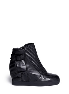 ASH'Batma' leather wedge platform sneakers