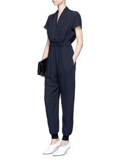 Stella McCartney'Lizbeth' cutout back silk crepe jumpsuit