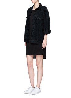 T By Alexander Wang Classic boatneck pocket jersey dress