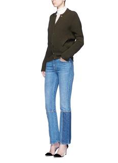 Alexander McQueenAsymmetric wool rib knit jacket