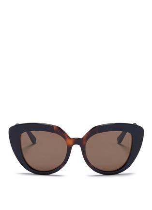 Marni-'Prisma' contrast acetate cat eye sunglasses