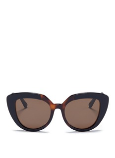 Marni 'Prisma' contrast acetate cat eye sunglasses