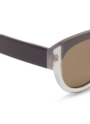 Detail View - Click To Enlarge - Marni - Stripe colourblock acetate sunglasses