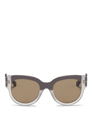 Main View - Click To Enlarge - Marni - Stripe colourblock acetate sunglasses