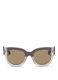Marni Stripe colourblock acetate sunglasses
