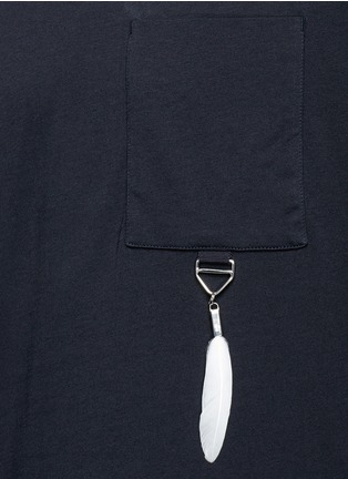 Detail View - Click To Enlarge - OAMC - Feather charm cotton T-shirt