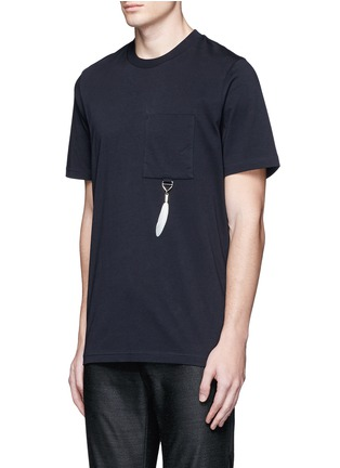 Front View - Click To Enlarge - OAMC - Feather charm cotton T-shirt