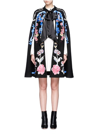 Main View - Click To Enlarge - Temperley London - 'Sail' anchor bird embroidered wool cape