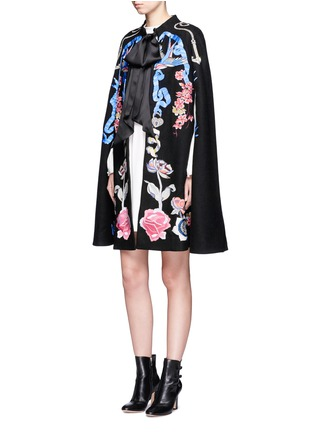Figure View - Click To Enlarge - Temperley London - 'Sail' anchor bird embroidered wool cape