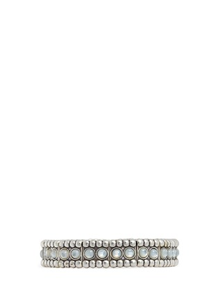Main View - Click To Enlarge - Philippe Audibert - 'Wapoo' mother of pearl elastic bracelet