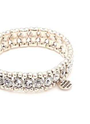 Detail View - Click To Enlarge - Philippe Audibert - 'Solange' engraved Swarovski crystal elastic bracelet