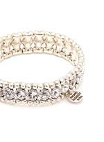 'Solange' engraved Swarovski crystal elastic bracelet