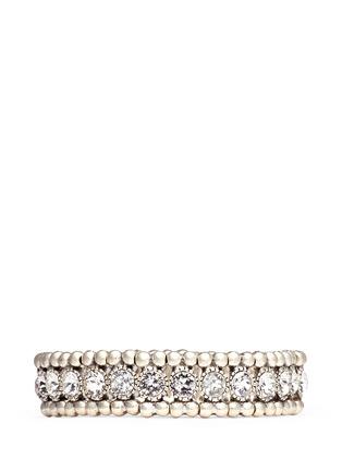Philippe Audibert-'Solange' engraved Swarovski crystal elastic bracelet