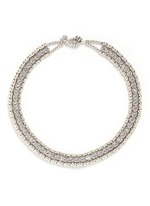 'Solange' beaded Swarovski crystal necklace