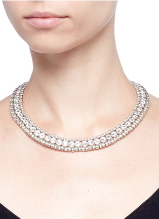 Figure View - Click To Enlarge - Philippe Audibert - 'Solange' beaded Swarovski crystal necklace