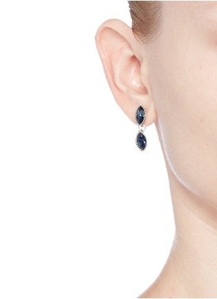 Figure View - Click To Enlarge - Philippe Audibert - 'Becky' Swarovski crystal drop earrings