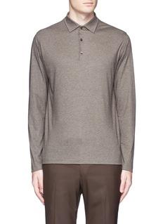 ISAIACashmere-cotton polo shirt