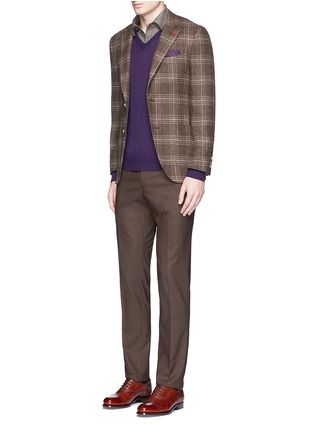 Figure View - Click To Enlarge - ISAIA - Cashmere-cotton polo shirt