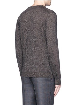 Back View - Click To Enlarge - ISAIA - Mélange wool sweater