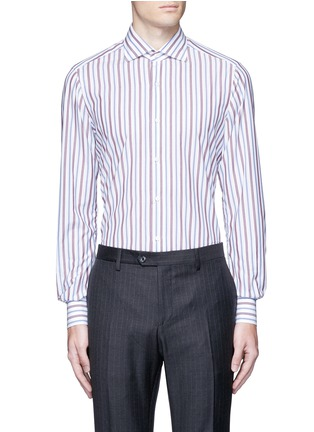 Main View - Click To Enlarge - ISAIA - 'Milano' stripe cotton shirt