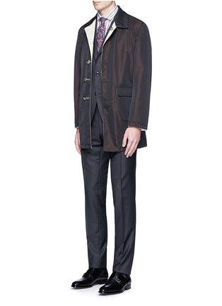 Figure View - Click To Enlarge - ISAIA - 'Milano' stripe cotton shirt