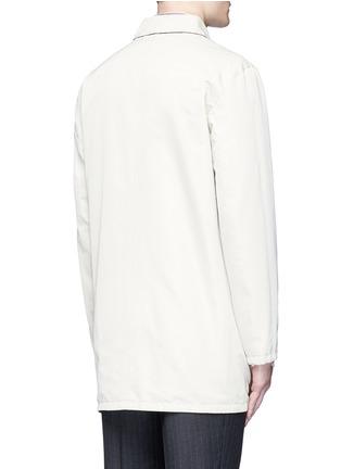 ISAIA-Reversible Aqua Cotton coat
