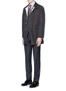 ISAIAReversible Aqua Cotton coat