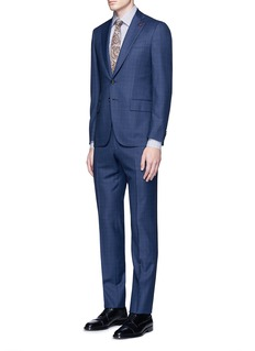 ISAIA 'Gregory' micro overcheck wool suit